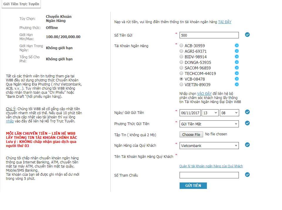 Hướng dẫn chi tiết đăng ký W88 gửi tiền và rút tiền tại W88.