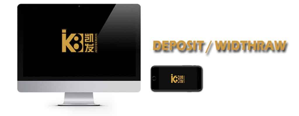 Hướng dẫn chi tiết đăng ký K8 gửi tiền và rút tiền K8.
