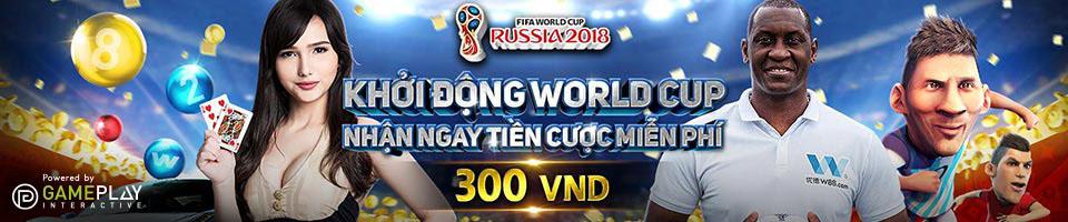 Cùng W88 khởi động World Cup quý khách có cơ hội nhận thưởng tiền cược miễn phí lên đến 300.000 VND
