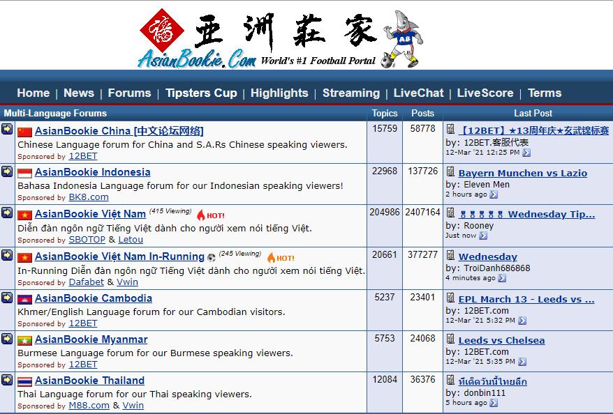 Asianbookie Football Portal
